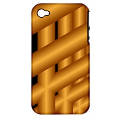 Fractal Background With Gold Pipes Apple iPhone 4/4S Hardshell Case (PC+Silicone)