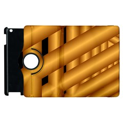 Fractal Background With Gold Pipes Apple iPad 2 Flip 360 Case