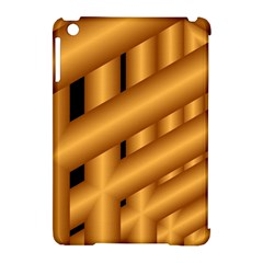 Fractal Background With Gold Pipes Apple iPad Mini Hardshell Case (Compatible with Smart Cover)