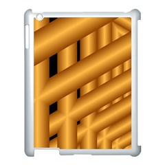 Fractal Background With Gold Pipes Apple iPad 3/4 Case (White)