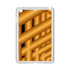 Fractal Background With Gold Pipes Ipad Mini 2 Enamel Coated Cases