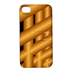 Fractal Background With Gold Pipes Apple iPhone 4/4S Hardshell Case with Stand