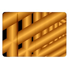 Fractal Background With Gold Pipes Samsung Galaxy Tab 8.9  P7300 Flip Case