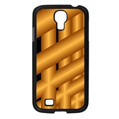 Fractal Background With Gold Pipes Samsung Galaxy S4 I9500/ I9505 Case (Black)