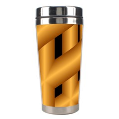Fractal Background With Gold Pipes Stainless Steel Travel Tumblers