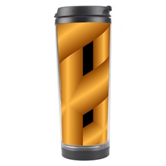 Fractal Background With Gold Pipes Travel Tumbler