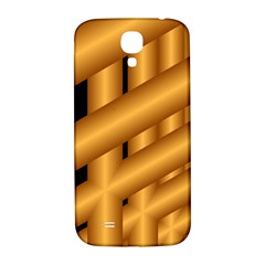 Fractal Background With Gold Pipes Samsung Galaxy S4 I9500/I9505  Hardshell Back Case