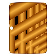 Fractal Background With Gold Pipes Samsung Galaxy Tab 3 (10.1 ) P5200 Hardshell Case