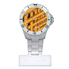 Fractal Background With Gold Pipes Plastic Nurses Watch