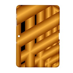Fractal Background With Gold Pipes Samsung Galaxy Tab 2 (10.1 ) P5100 Hardshell Case