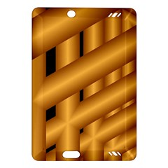 Fractal Background With Gold Pipes Amazon Kindle Fire HD (2013) Hardshell Case