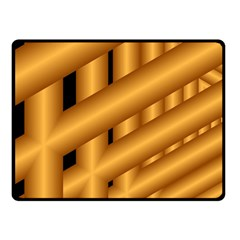 Fractal Background With Gold Pipes Double Sided Fleece Blanket (Small)