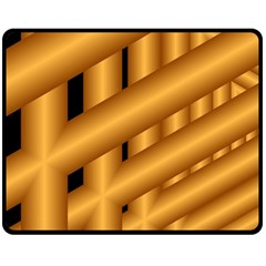 Fractal Background With Gold Pipes Double Sided Fleece Blanket (Medium)