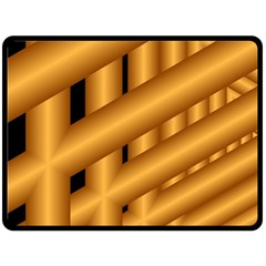 Fractal Background With Gold Pipes Double Sided Fleece Blanket (Large)