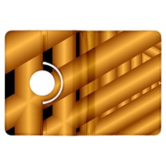 Fractal Background With Gold Pipes Kindle Fire HDX Flip 360 Case