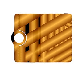 Fractal Background With Gold Pipes Kindle Fire HDX 8.9  Flip 360 Case