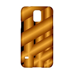 Fractal Background With Gold Pipes Samsung Galaxy S5 Hardshell Case