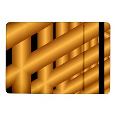 Fractal Background With Gold Pipes Samsung Galaxy Tab Pro 10.1  Flip Case