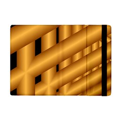 Fractal Background With Gold Pipes iPad Mini 2 Flip Cases