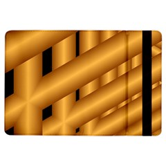 Fractal Background With Gold Pipes iPad Air Flip