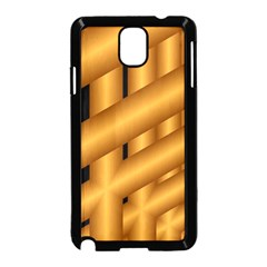 Fractal Background With Gold Pipes Samsung Galaxy Note 3 Neo Hardshell Case (Black)