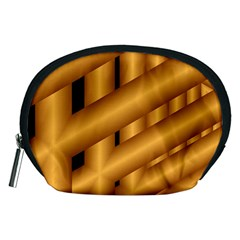 Fractal Background With Gold Pipes Accessory Pouches (Medium)