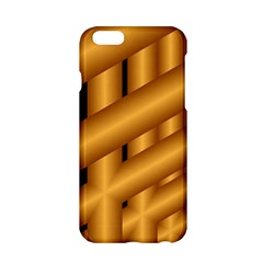 Fractal Background With Gold Pipes Apple iPhone 6/6S Hardshell Case