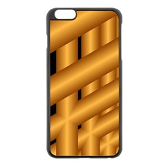 Fractal Background With Gold Pipes Apple iPhone 6 Plus/6S Plus Black Enamel Case