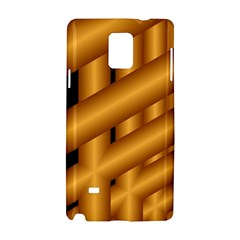Fractal Background With Gold Pipes Samsung Galaxy Note 4 Hardshell Case