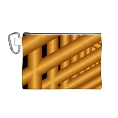 Fractal Background With Gold Pipes Canvas Cosmetic Bag (M)