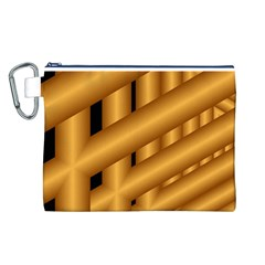 Fractal Background With Gold Pipes Canvas Cosmetic Bag (L)