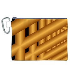 Fractal Background With Gold Pipes Canvas Cosmetic Bag (XL)