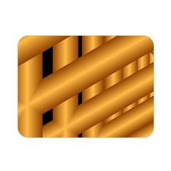 Fractal Background With Gold Pipes Double Sided Flano Blanket (mini)