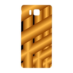 Fractal Background With Gold Pipes Samsung Galaxy Alpha Hardshell Back Case