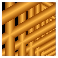 Fractal Background With Gold Pipes Large Satin Scarf (Square)