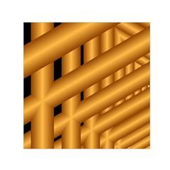 Fractal Background With Gold Pipes Small Satin Scarf (Square)