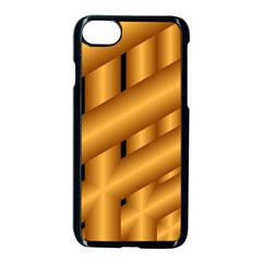 Fractal Background With Gold Pipes Apple Iphone 7 Seamless Case (black)