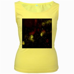 Lights And Drops While On The Road Women s Yellow Tank Top