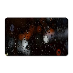 Lights And Drops While On The Road Magnet (rectangular)