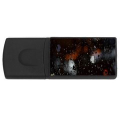Lights And Drops While On The Road USB Flash Drive Rectangular (1 GB)