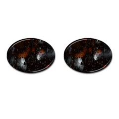 Lights And Drops While On The Road Cufflinks (oval)