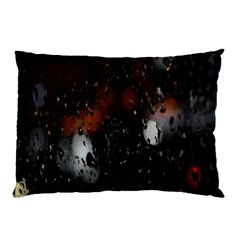 Lights And Drops While On The Road Pillow Case