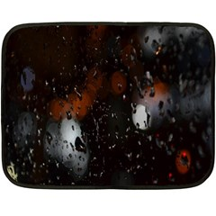 Lights And Drops While On The Road Double Sided Fleece Blanket (mini)