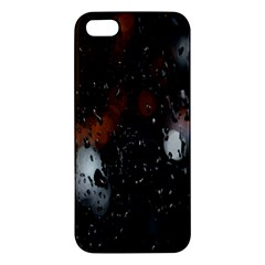 Lights And Drops While On The Road Apple iPhone 5 Premium Hardshell Case