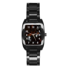 Lights And Drops While On The Road Stainless Steel Barrel Watch