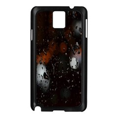 Lights And Drops While On The Road Samsung Galaxy Note 3 N9005 Case (Black)