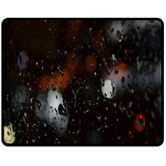 Lights And Drops While On The Road Double Sided Fleece Blanket (Medium)