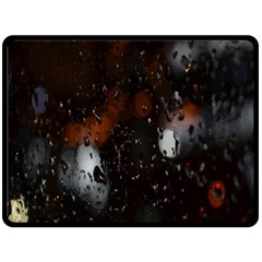 Lights And Drops While On The Road Double Sided Fleece Blanket (Large)