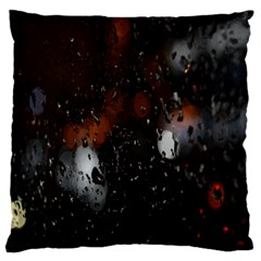 Lights And Drops While On The Road Large Flano Cushion Case (one Side)