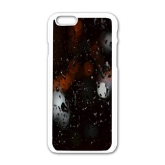 Lights And Drops While On The Road Apple iPhone 6/6S White Enamel Case